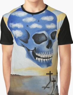 Surreal Skull Graphic T-Shirt