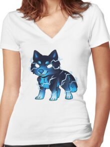 Skoll Pup Women's Fitted V-Neck T-Shirt