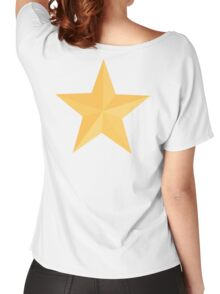 Gold Star, Yellow Star, Golden Star, Award, Achievement, Excellent, Excellence, on WHITE Women's Relaxed Fit T-Shirt