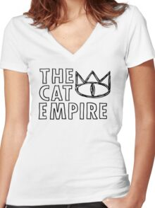 The Cat Empire Women's Fitted V-Neck T-Shirt