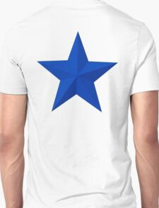 BLUE STAR, Blue sectioned star Unisex T-Shirt