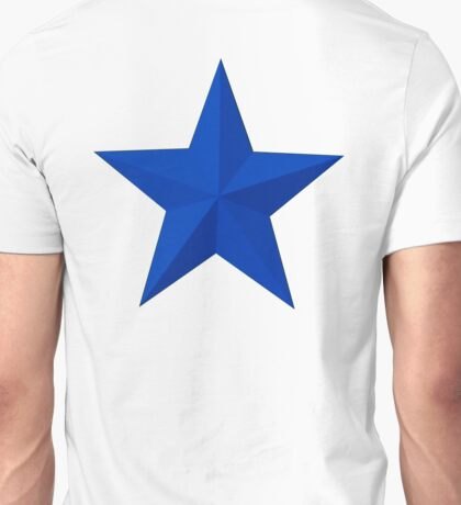 STAR, BLUE STAR, Blue sectioned star Unisex T-Shirt