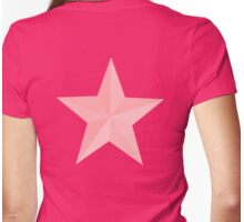 PINK STAR, Pink sectioned star, Star, Stardom Womens Fitted T-Shirt