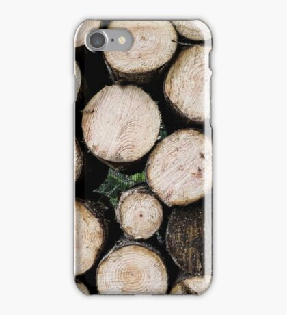 Stacked Logs iPhone Case/Skin