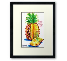 Prickle Fruit Framed Print