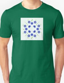 Blue flowers ( inspired by Slovakia ) Unisex T-Shirt