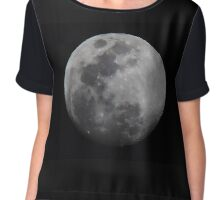 Lunar Surface Chiffon Top