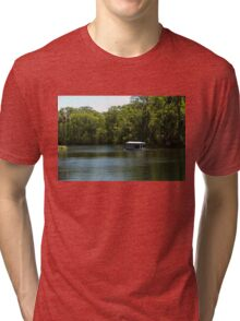 Glass Bottom Boat on Silver Springs Tri-blend T-Shirt