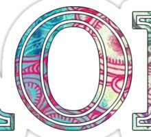 alpha omicron pi sorority sticker colorful aopi Sticker
