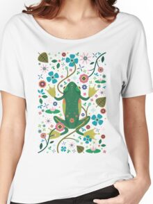 Botanical Frog  Women's Relaxed Fit T-Shirt