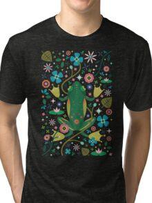 Botanical Frog  Tri-blend T-Shirt
