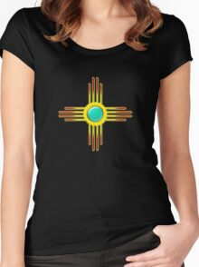 Zia Sun - Zia Pueblo - New Mexico Women's Fitted Scoop T-Shirt