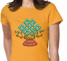 Tibetan Endless Knot, Lotus Flower, Buddhism Womens Fitted T-Shirt