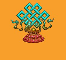 Tibetan Endless Knot, Lotus Flower, Buddhism Womens Fitted T-Shirt