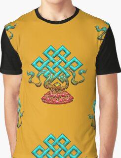 Tibetan Endless Knot, Lotus Flower, Buddhism Graphic T-Shirt