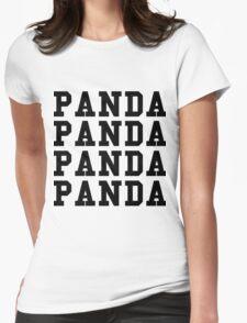 Panda Panda Desiigner - Black Text Womens Fitted T-Shirt