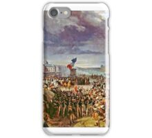 Léon Cogniet - The National Guard of Paris leaves for the Army, September  iPhone Case/Skin
