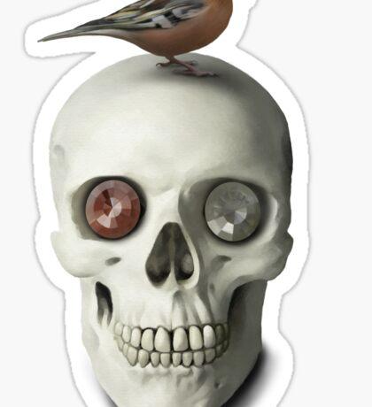Skull & bird Sticker