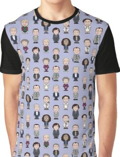 Repeating Sherlock and Friends Graphic T-Shirt