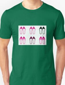 Female retro shoes collection - Pink Unisex T-Shirt