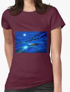 Christmas Night Womens Fitted T-Shirt