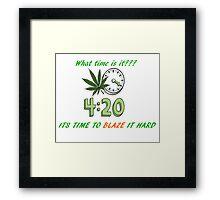 420 DAY!!! Framed Print