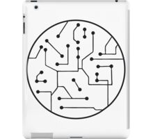 ball circular data linked microchip lines technology electrically iPad Case/Skin