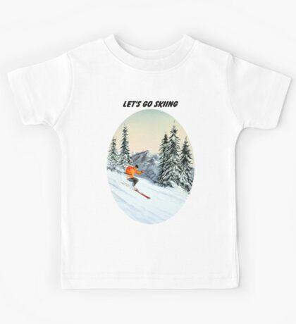 LET'S GO SKIING Kids Tee