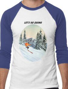 LET'S GO SKIING Men's Baseball ¾ T-Shirt