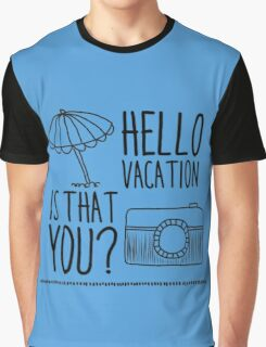 Hello Vacation Graphic T-Shirt