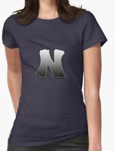 Letter N Womens Fitted T-Shirt