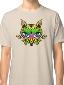 Rainbow fox with blue eyes and ornaments Classic T-Shirt