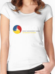 Delos – Adult Amusement Parks (aged look) Women's Fitted Scoop T-Shirt