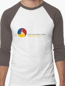 Delos – Adult Amusement Parks (aged look) Men's Baseball ¾ T-Shirt