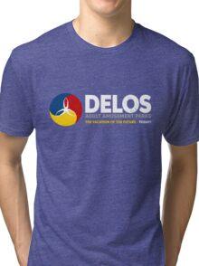 Delos – Adult Amusement Parks (aged look) Tri-blend T-Shirt