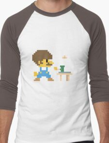 Super BobRossario Bros. Men's Baseball ¾ T-Shirt