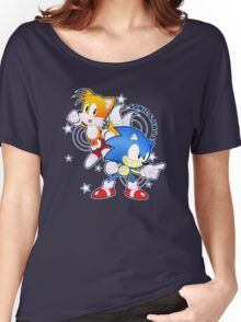 Classic Sonic and Tails 25th Anniversary Style Women's Relaxed Fit T-Shirt