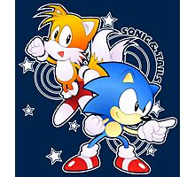 Classic Sonic and Tails 25th Anniversary Style Photographic Print