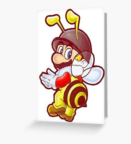 Bee Mario Greeting Card