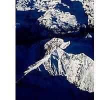 Aerial Winter Peak Photographic Print