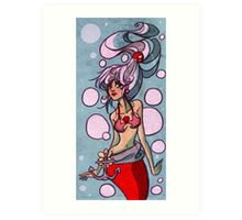 Silver Haired Marmaid Art Print
