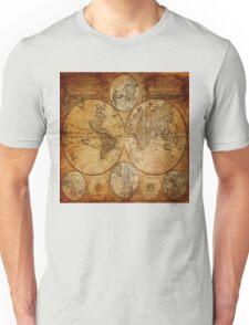 Traveller Gifts travel souvenir vintage world map Unisex T-Shirt