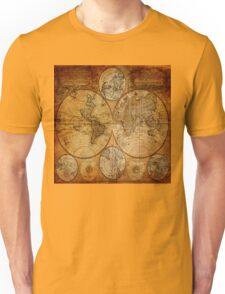 Traveller Gifts travel souvenir vintage world map Unisex T-Shirt