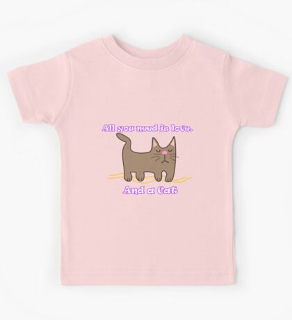 All You Need is love. And a Cat. Kids Clothes
