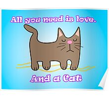 All You Need is love. And a Cat. Poster