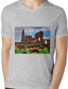 The Abbey from the Graveyard Mens V-Neck T-Shirt