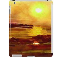 Yellow and Orange Sea Art iPad Case/Skin