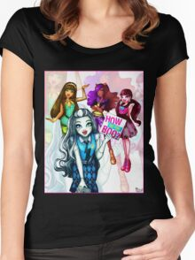 How do you boo? - Monster High Women's Fitted Scoop T-Shirt