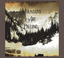 John Muir quote typography mountains are calling and i must go  Baby Tee
