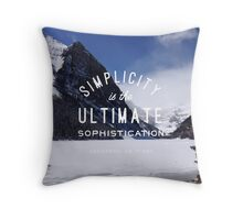 mountain simplicity is the ultimate sophistication nature typography Throw Pillow